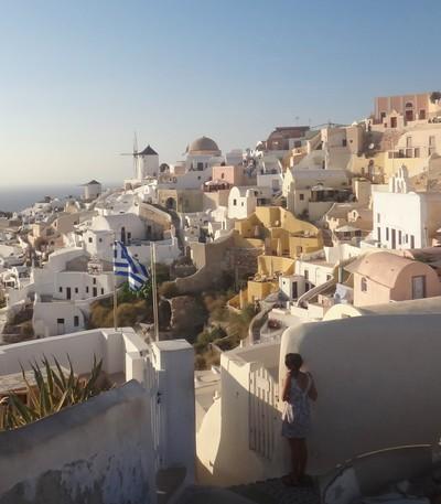View of Oia Santorini