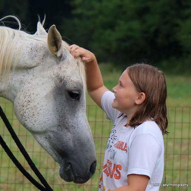 This little girl saved her money for 4 years for her very own horse. Birthdays, Christmas, raising countless chickens to earn enough. She achieved it.  The two of them share a bond that only they can share.