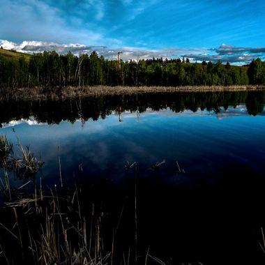 A small pond near Merritt B C