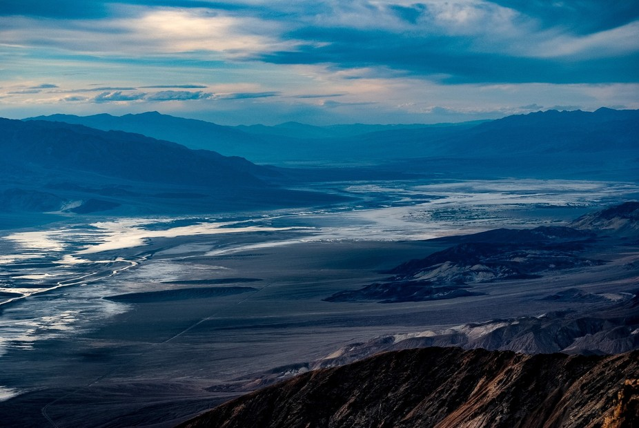Death Valley as Sunset Approaches
