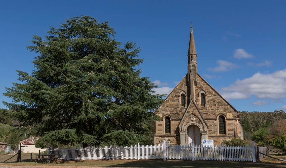 Church at Hill end is a beautiful full colour photograph is  presented by Josephine Caruana Lands...