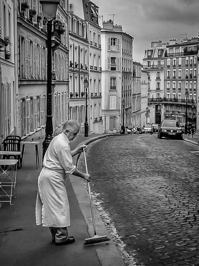 Morning sweep-Paris, France-1