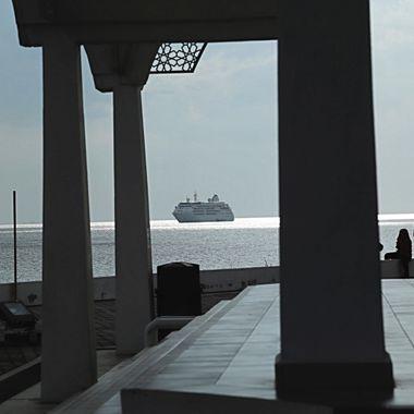 Silversea Cruiseliner off Malacca, Malaysia!