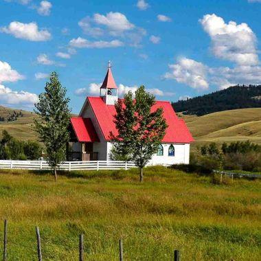 This church is on Douglas Lake Ranch B C