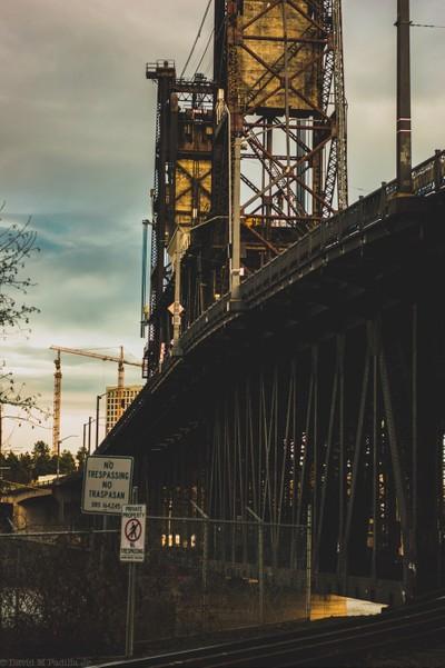 Bridge in downtown portland waterfront.