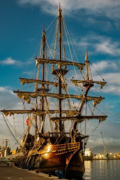 17th Century Spanish Galleon Replica in Malaga port, Spain.