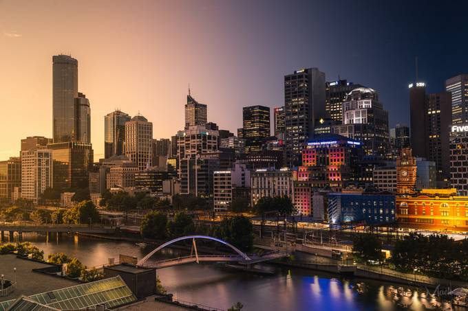 Melbourne by Mike_MacKinven - Sunset And The City Photo Contest