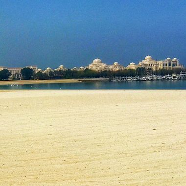 Emirates Palace view of Abu Dhabi!