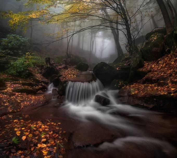 Autumn waterfall by krasistm - An Unforgettable Adventure Photo Contest