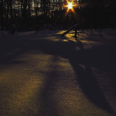 Sun, snow,shadows. An afternoon snowshoe in the nearly two feet of snow this week.  #trailsend #sun #shadows #snow #sunburst #lateafternoonsun #sunset #snowshoe #wander #woods#outthebackdoor #backyardnature #canon_photos #canonwhatelse #canonglobal #got_g