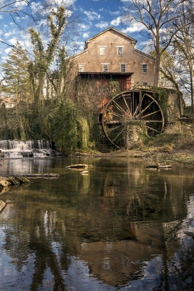 Reflection of Falls Mill