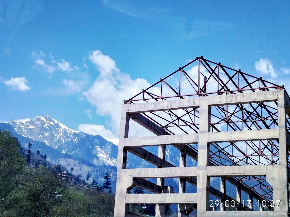 This photo taken from bus in the way of Manali (Himachal Pradesh) my college trip. And click by m...