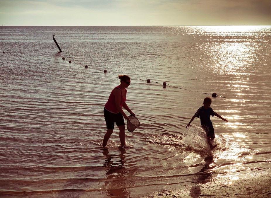 Beach sillohette 1