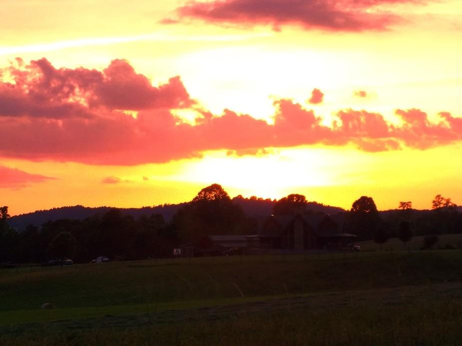Sunset on the Blue Ridge Parkway.