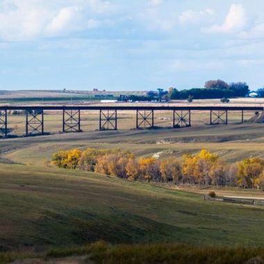 Railroad bridge near Lethbridge Alberta