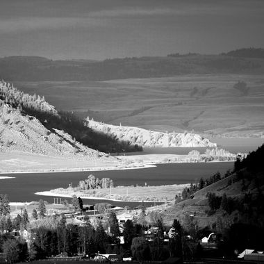This is Nicola Lake taken from the Swakum Mtn. Rd.