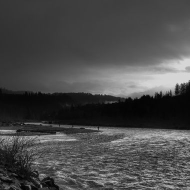 Sunrise at the Vedder River near Chilliwack B C