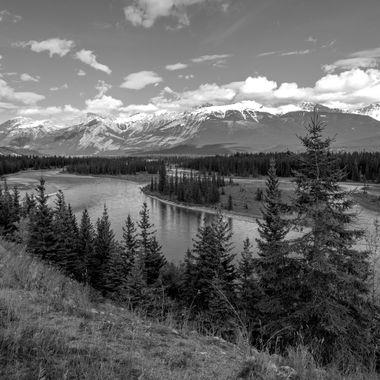 Just a few kilometers past Jasper Alberta.