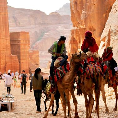 "Transportation around the ""Lost City"" of Petra, Jordan!"