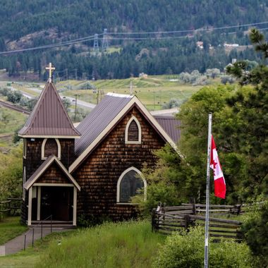 This little brown church is near Kamloops B C