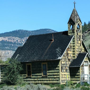 A Church on First nations land at Spences Bridge B C
