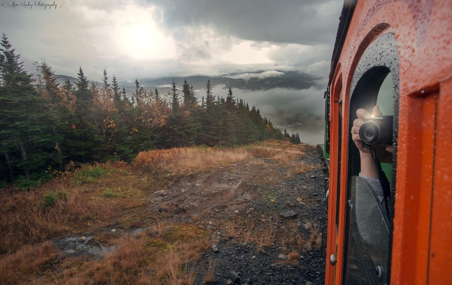 A snapshot during the journey to the summit of Mount Washington in New Hampshire.   Prints availa...