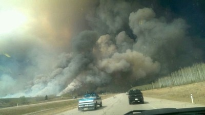 Driving into the Fort Mcmurray Fire