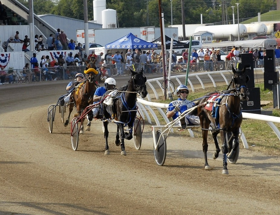 Lincoln County Fair harness racing remains very popular locally. It's actually very dang...