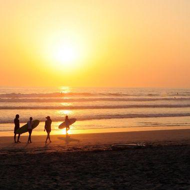 Sunset Surfers at Nosara, Costa Rica