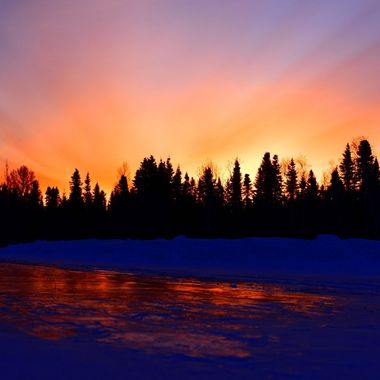 Sunrise reflection off ice Nikon d3400 supervivid