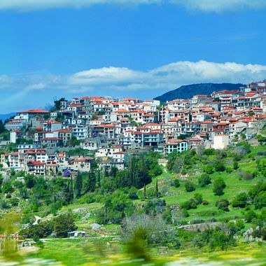 Mountain village in Greece on the way to Delphi!