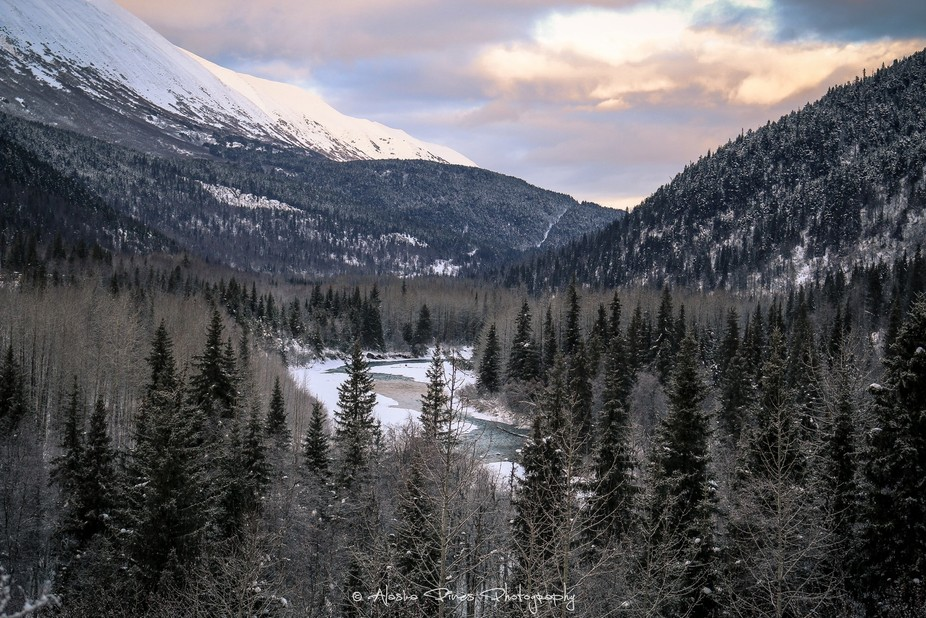 This photo of Sixmile Creek was taken near the Hope junction, on the Seward Highway in Alaska.