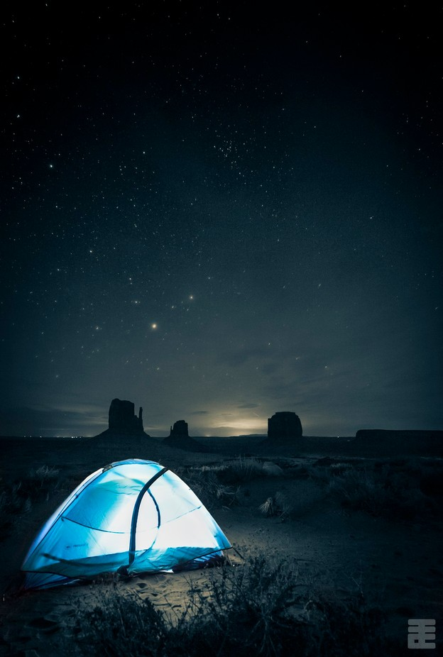 Campsite with a Monumental view by etsai - Outdoor Camping Photo Contest