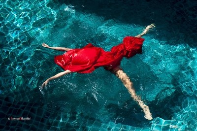 Red on water