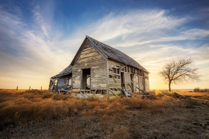 The Forlorn Farmhouse by jfischerphotography - Isolated Cabins Photo Contest