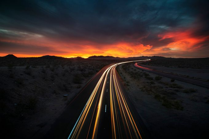 Desert Drive (Arizona/CA border) by ReidCollins - The Moving Clouds Photo Contest