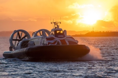 Hovercraft at Sunset