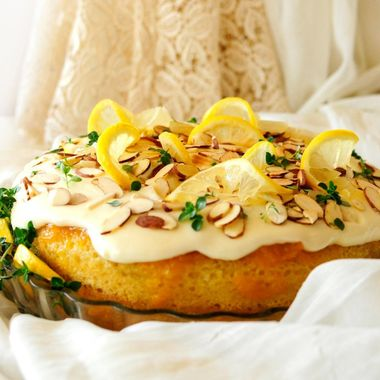 Lemon Thyme Cake with Cream Cheese Frosting