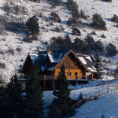 A beautiful log home at Napier Lake B C