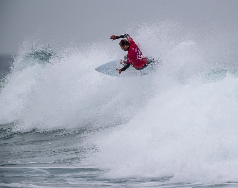 Josh Kerr in action at the Rip Curl Pro