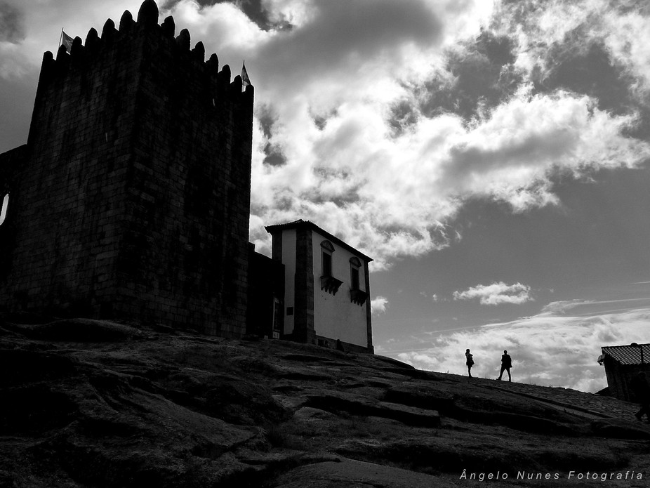 A View of the Belmonte Castle, in Portugal