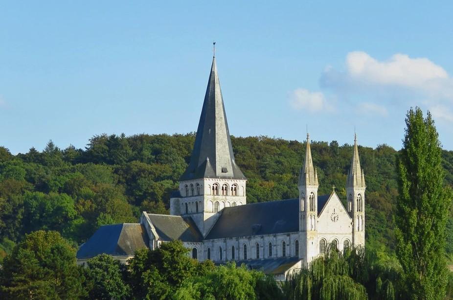 Abbaye Saint-Georges de Boscherville  Saint-Martin-de-Boscherville, Normandie, France.