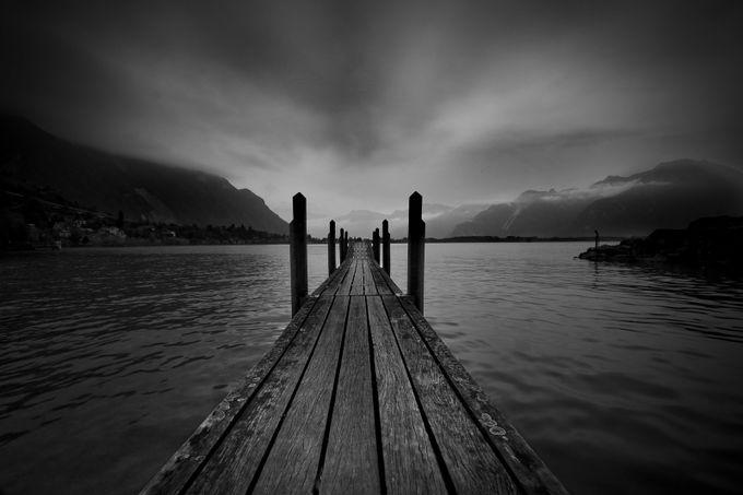 Swiss Lake by Matt_eSCAPEstock - Black And White Compositions Photo Contest vol3