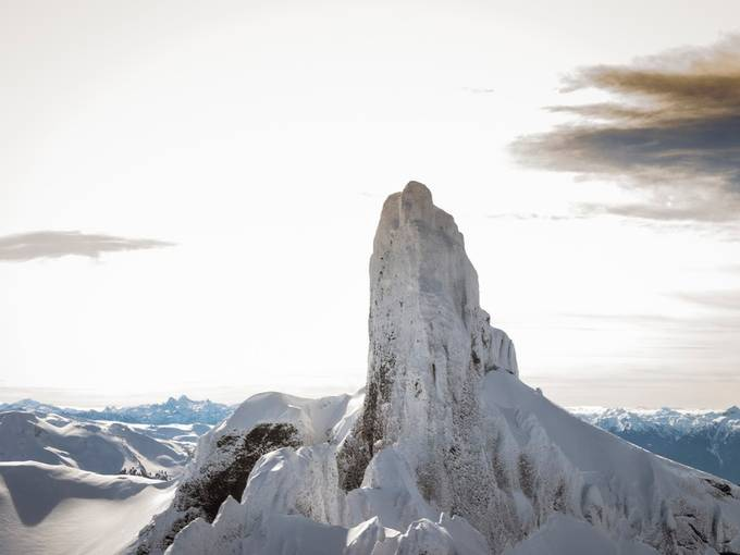 The mighty Black Tusk, the old stratovolcano standing tall in Garibaldi Park located in Squamish BC.