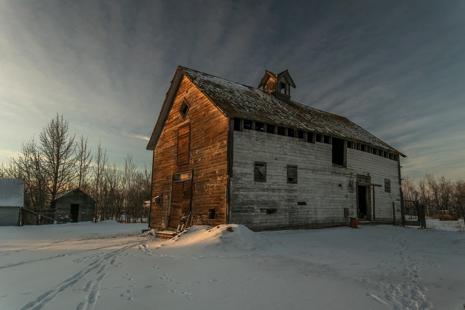 This barn is in Alberta Canada and is well over 100 years old.