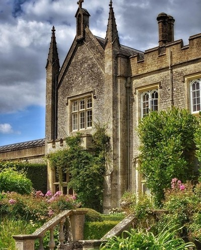 Steps to the Cotswold Manor House
