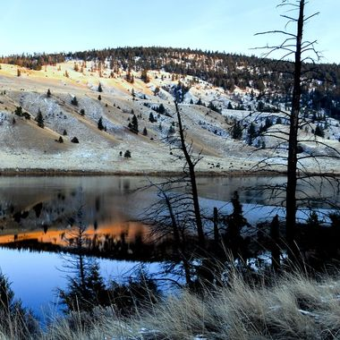 Shumway Lake is on the old highway near Kamloops B C