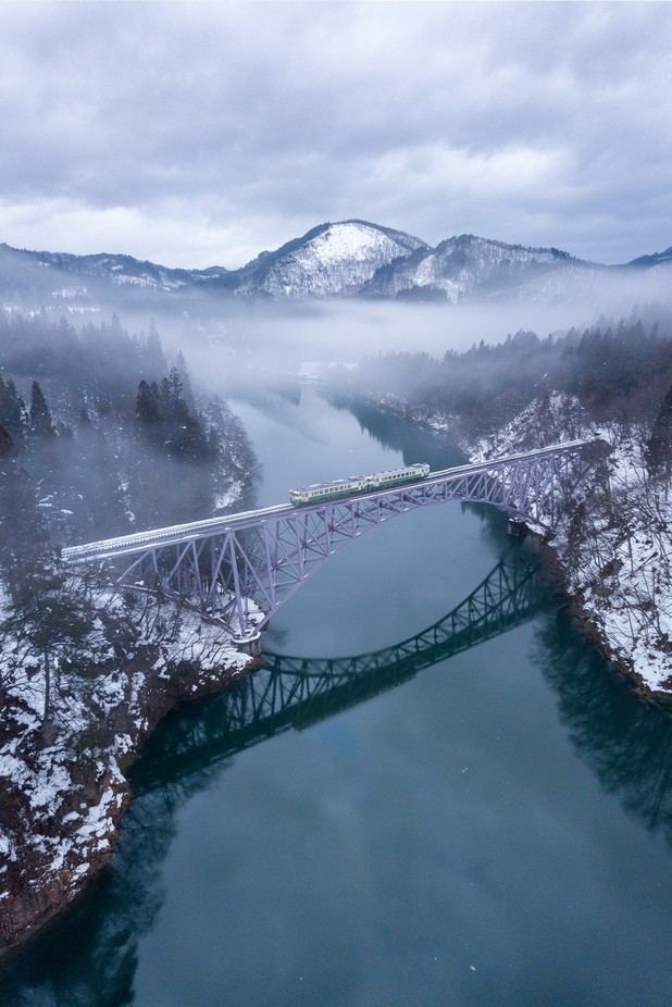 Rural Japan: Winter by journeytoinspiration - Spectacular Bridges Photo Contest