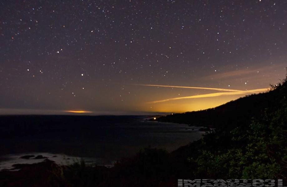 Bog Sur Night sky during our recebt blye moon blood moon eveht