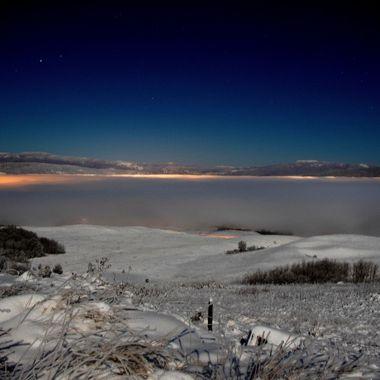 Merritt British Columbia is somewhere under that fog.